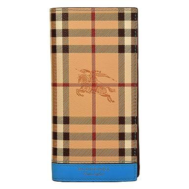 7fd95d0ea2c91 Burberry portefeuille homme en cuir deux plis Cavendish blu  Amazon ...