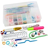 Topixdeals Knitting Accessory Kit Supply Set Basic Tools + Case Lots Pcs, STYLE-B