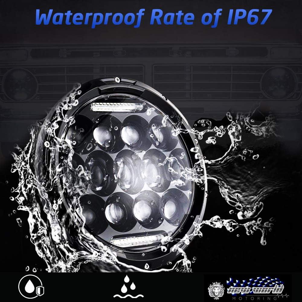 7 Inch LED Halo Headlights for Jeep Wrangler JK TJ LJ CAR TRUCK Hi//Lo Beam with DRL Angel Eyes 2PCS H6014 H6015 H6017 H6024