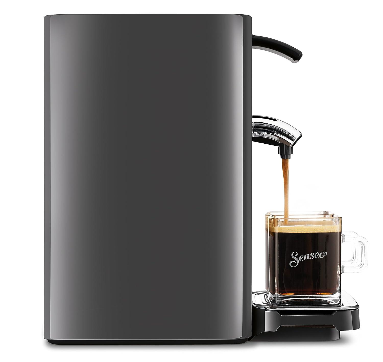 Cafetera Independiente, M/áquina de caf/é en c/ápsulas, 1,2 L, Dosis de caf/é, 1450 W, Negro Senseo Quadrante HD7866//61