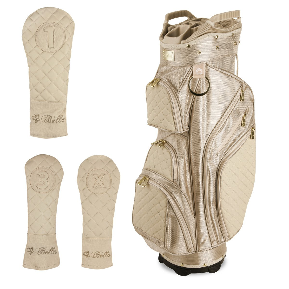 iBella Tan Ladies Golf Cart Bag (with 3 Matching Headcovers) by iBella (Image #1)