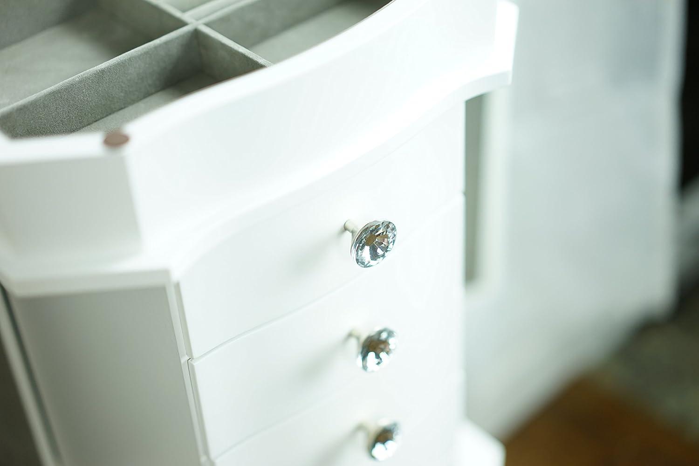 Hives /& Honey Meg Walnut Standing Jewelry Armoire