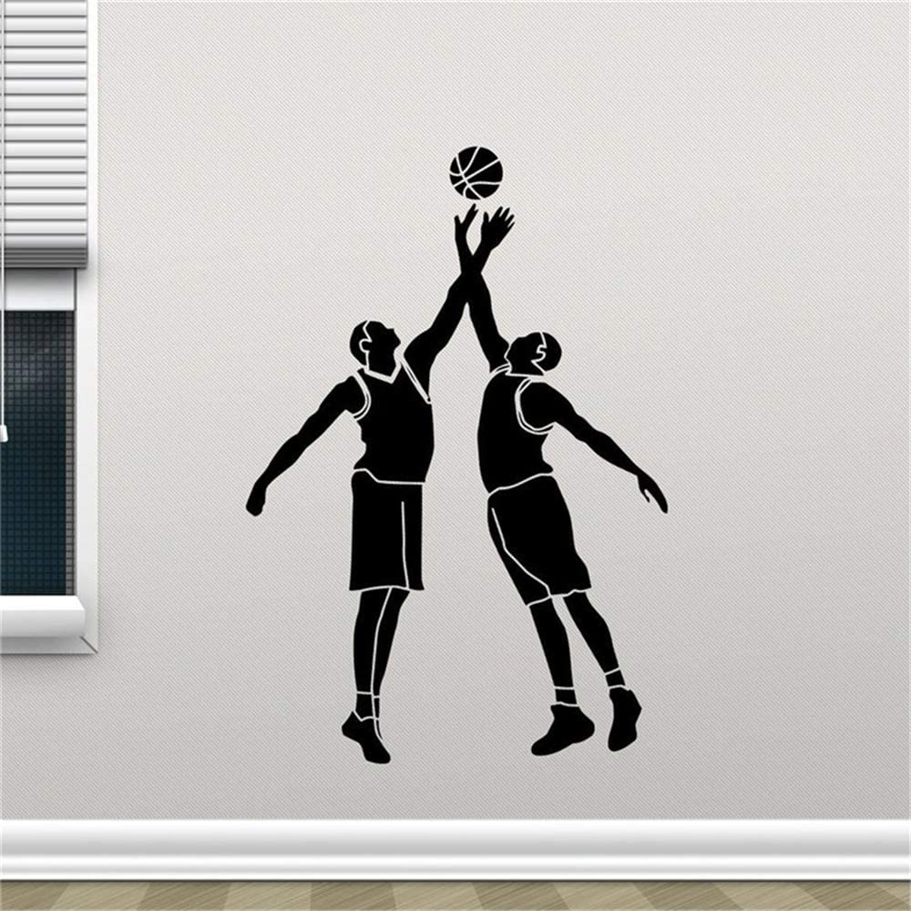 Etiqueta de la pared Baloncesto Jugadores Pelota Canasta Logotipo ...