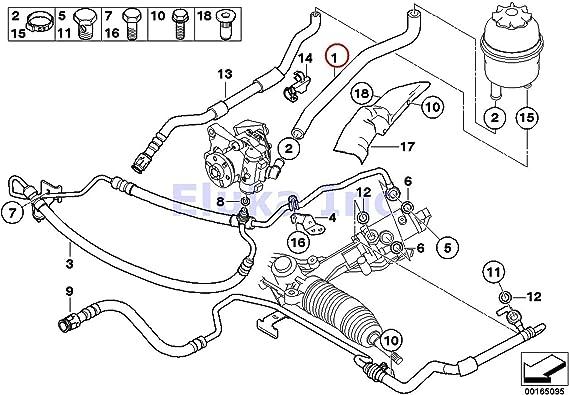 523i 528i 530i Manguera Hidráulica De Dirección Asistida BMW 5er E39 520i 525i