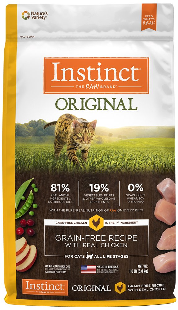 Instinct Original Grain Free Recipe with Real Chicken Natural Dry Cat Food by Nature's Variety, 11 lb. Bag by Instinct (Image #1)