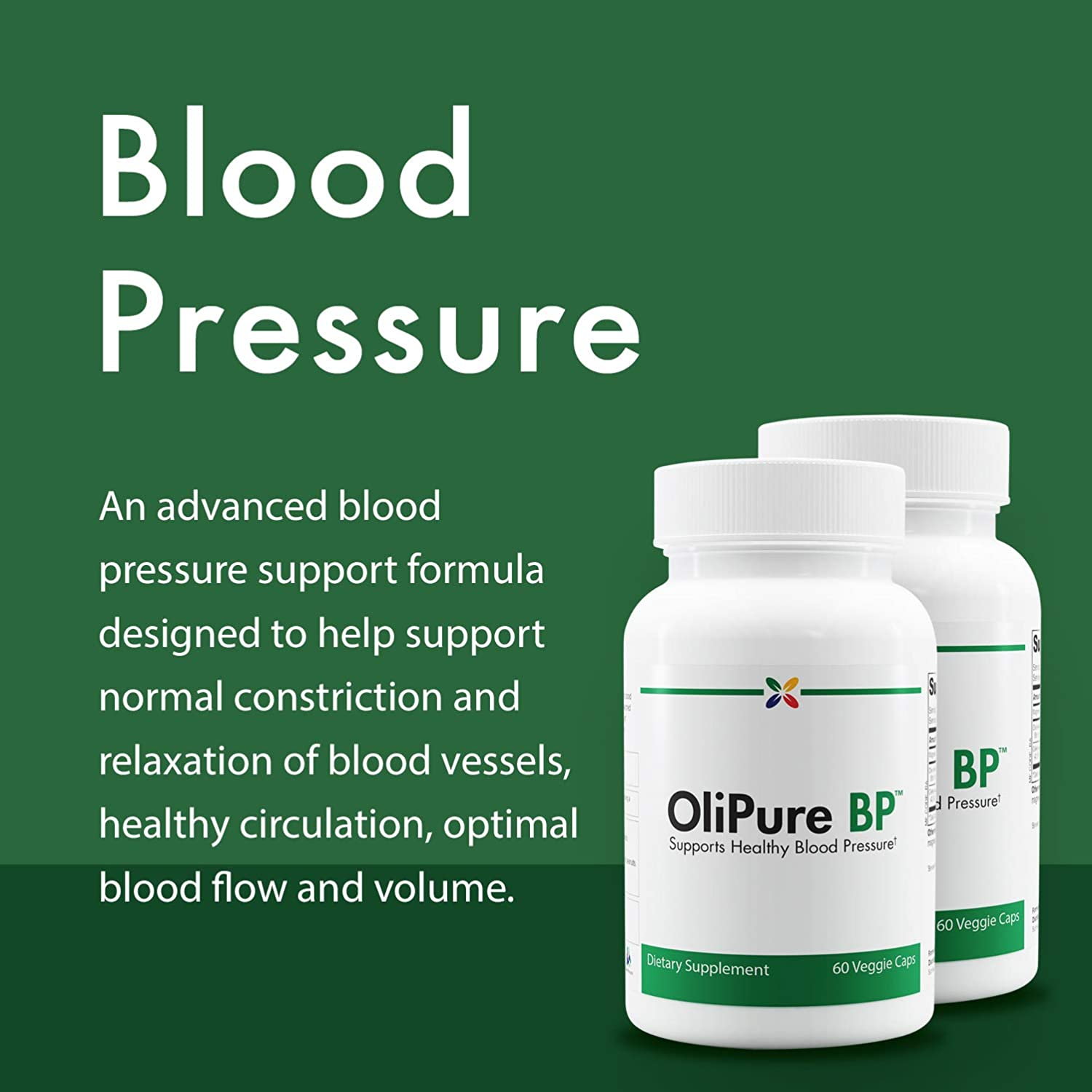 Stop Aging Now - OliPure BP™ Blood Pressure Support Formula - Ref Code  (OBPWPT) - Supports