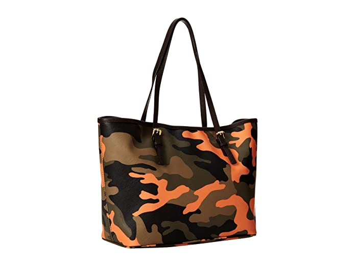 3830b5861c72 MICHAEL Michael Kors Small Jet Set Travel Tote in Poppy Orange Camo:  Handbags: Amazon.com