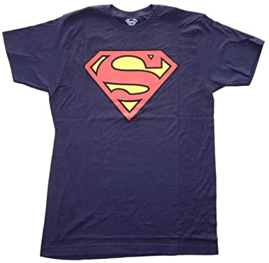 6dc1dd48c38 Amazon.com  DC Comics Superman Classic Logo Men s Royal Blue T-shirt   Clothing