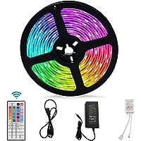 LED Strip Lights, Color Changing LED Strip Lights 5050 RGB LED Light 33ft Color Changing Rope Lights with 44-Keys IR Remote Controller LED Lighting Strips