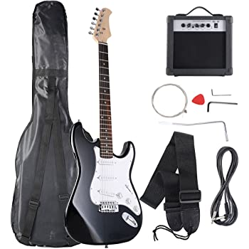 full size electric bass guitar starter beginner pack with amp case strap black. Black Bedroom Furniture Sets. Home Design Ideas