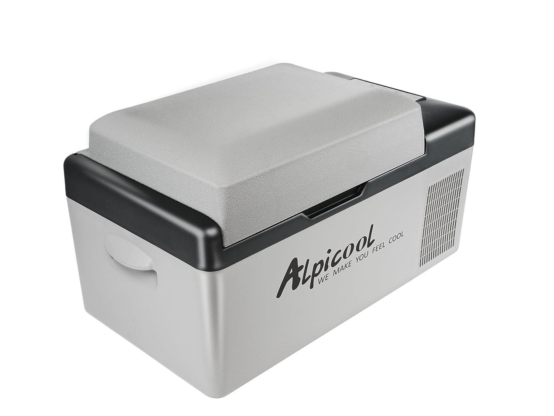 Alpicool C20 Portable Refrigerator 21 Quart(20 Liter) Vehicle, Car, Truck, RV, Boat, Mini fridge freezer for Driving, Travel, Fishing, Outdoor