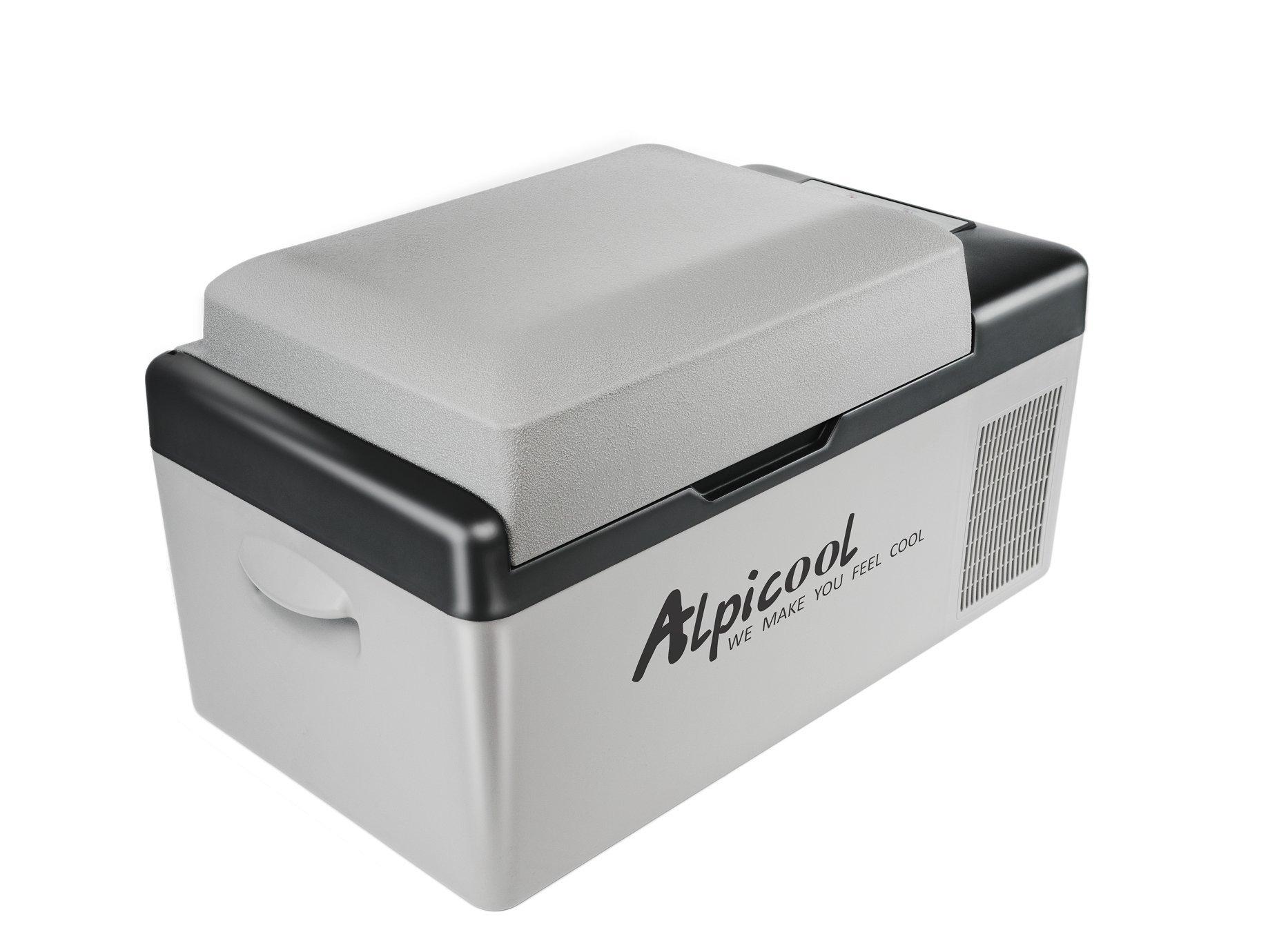 Alpicool C20 dc compressor car fridge freezer 12V 24V 110V -20C car and home use 20 Litres