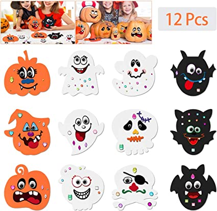 Halloween WIGGLE EYE 10 STICKERS Party Favors REWARDS