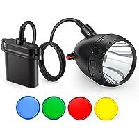Kohree - Lámpara de Caza de Coyote de 10 W Cree LED Recargable para depredador, Caza, minería con Interruptor, 4 filtros ópticos, Kit de Cargador