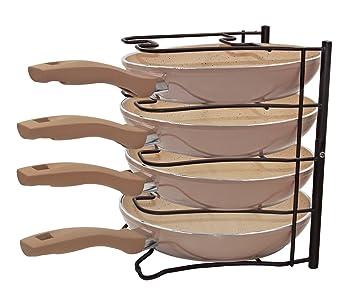 esylife armario de cocina Cacerola organizador accesorio de cocina soporte (para 5 sartenes/tapas