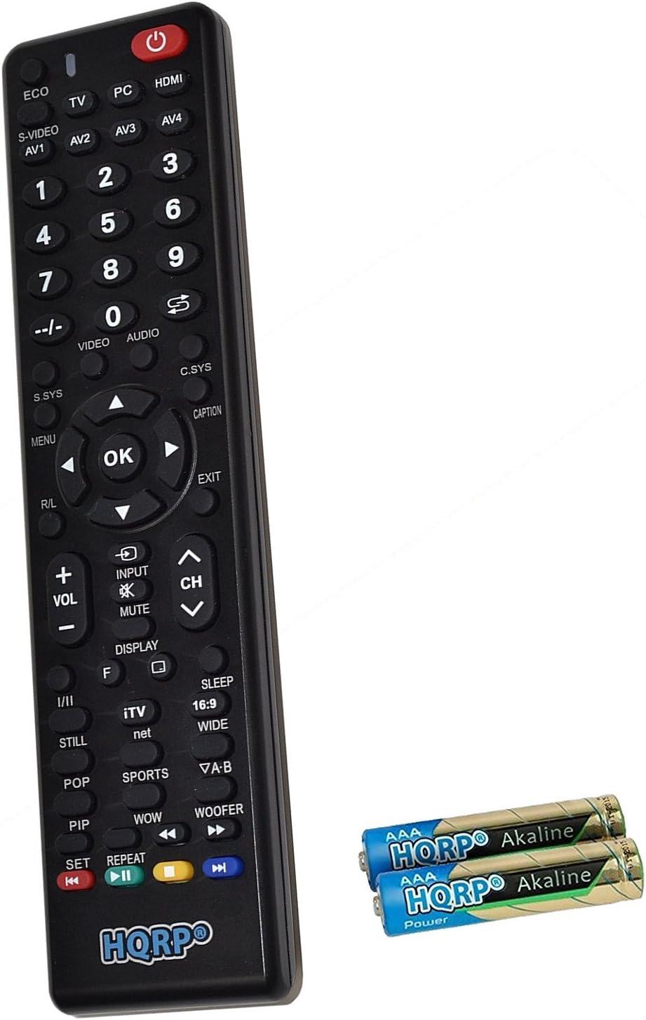 HQRP Mando a Distancia Universal para televisores de Sanyo DP47840 ...