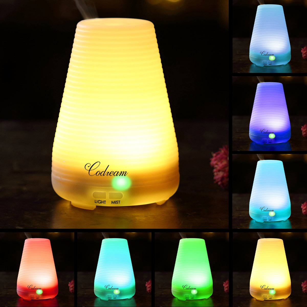 Aromatherapy Essential Oil Diffuser Codream 100ml Aroma Cool Mist Ultrasonic Humidifier With Waterless Auto Shut Off