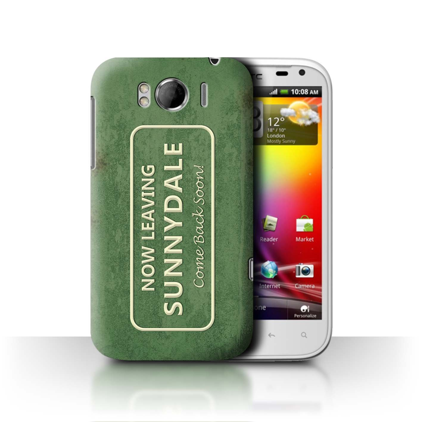 low priced afa01 ca8cb Amazon.com: STUFF4 Phone Case/Cover for HTC Sensation XL/G21 / Town ...
