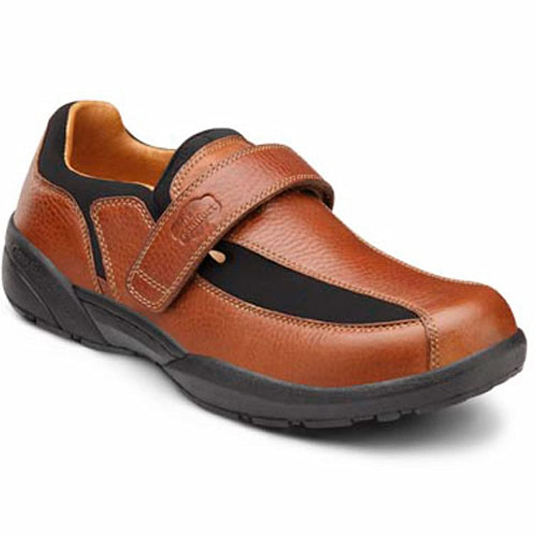 Dr. Comfort Douglas Mens Casual Shoe -8.0 Medium (B/D) Chestnut Velcro US Men|Chestnut