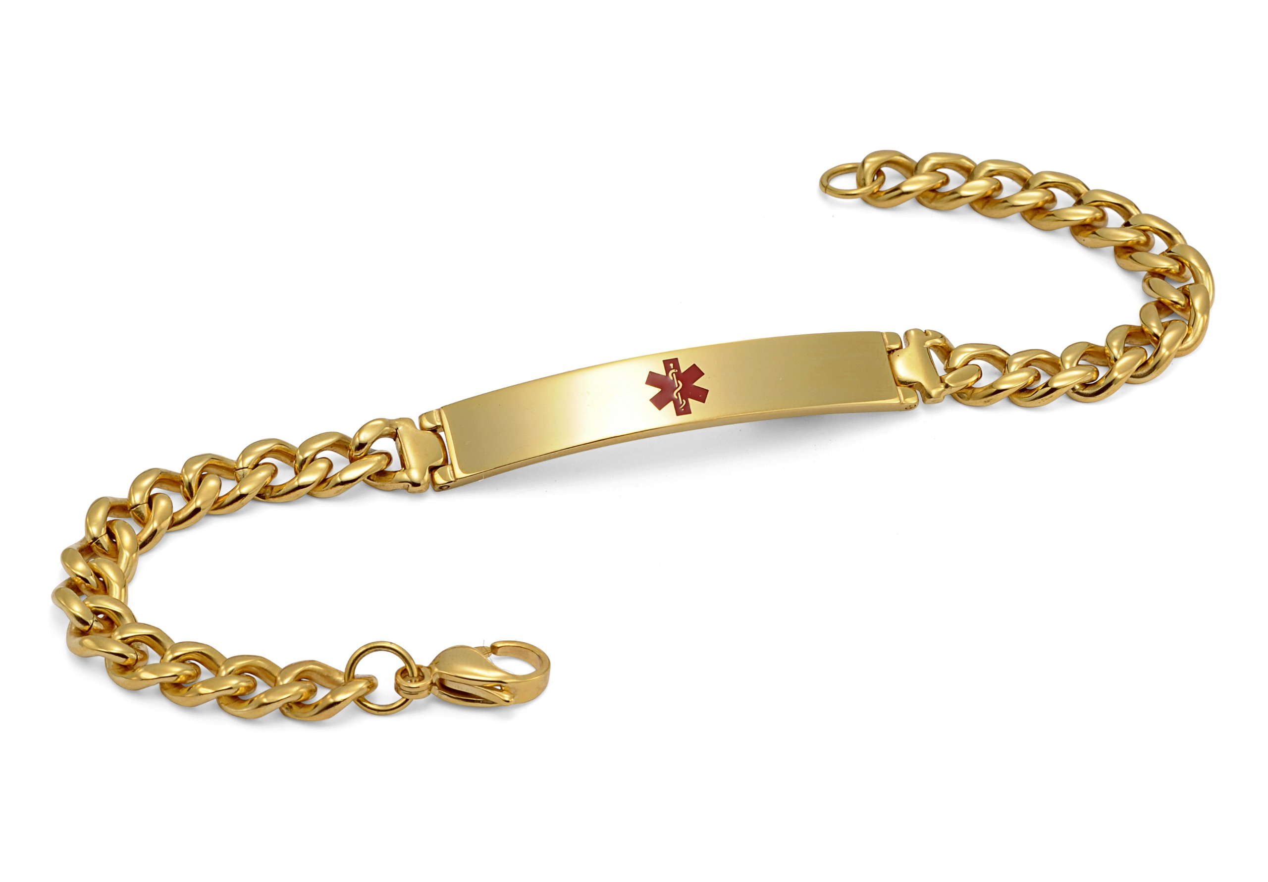 Gold Plated Bracelet - Medical ID (7)