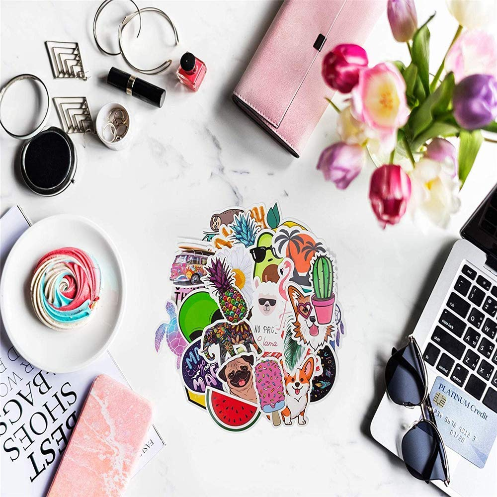 30-Pack Stickers for Water Bottles Big Cute,Waterproof,Aesthetic,Trendy Stickers for Teens,Girls Perfect for Waterbottle,Laptop,Phone,Travel Extra Durable 100/% Vinyl,TZA