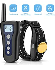 LOETAD Dog Training Collar with Remote 330 Yards Waterproof Rechargeable with Beep Vibration and Shock Dogs