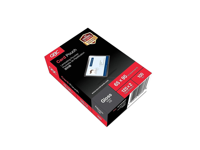Amazon.com: GBC Carteras de plastificación 64 x 99 mm 2 x ...