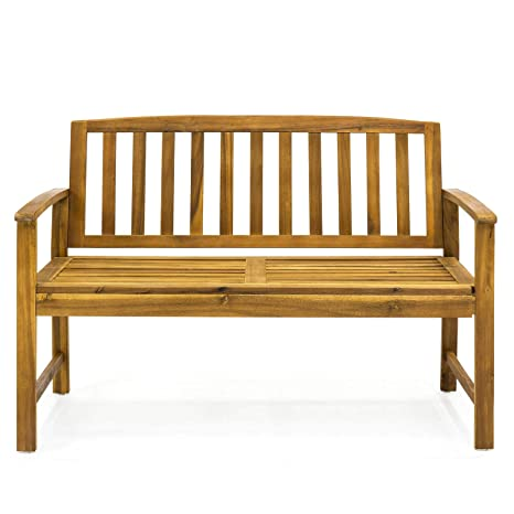 Amazing Amazon Com Happyshopshop Slat Wood Outdoor Garden Bench Camellatalisay Diy Chair Ideas Camellatalisaycom