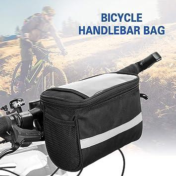 Bike Handlebar Bag Bicycle Front Basket Outdoor Equipment W// Reflective Strip UK
