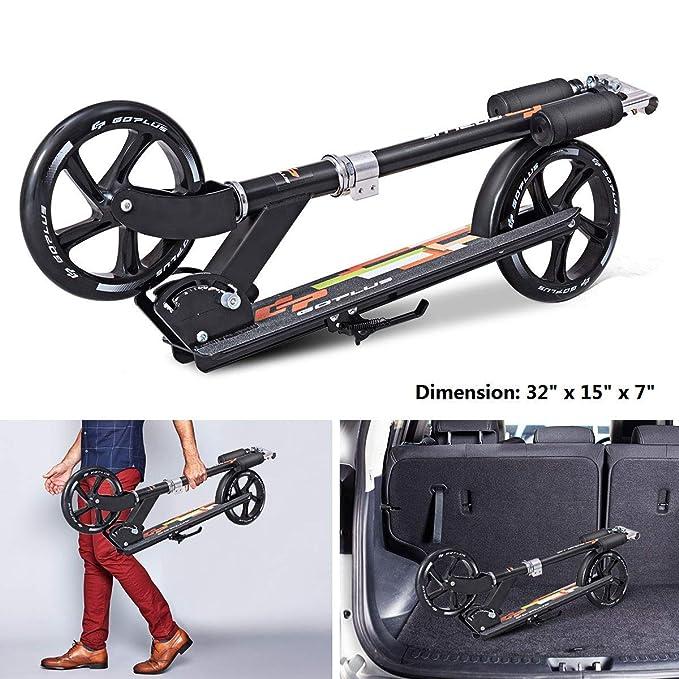 Amazon.com: GYMAX Kick Scooter, Folding Big Wheel Scooter ...