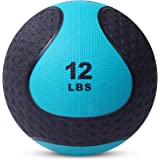 Medicine Exercise Ball with Dual Texture for Superior Grip by Day 1 Fitness - 10, 4-20 Pounds - Fitness Balls for…