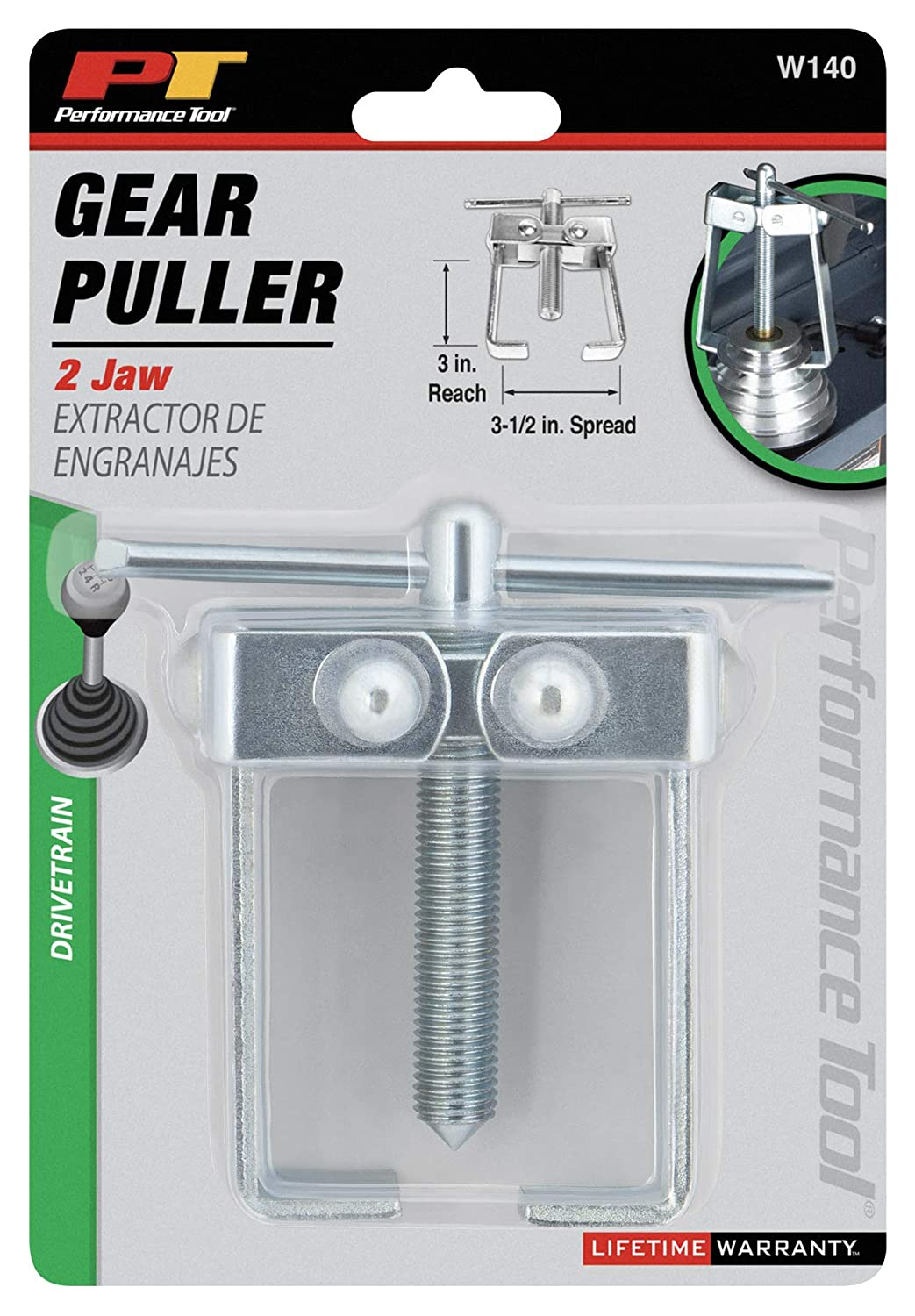 3-1//2 Performance Tool W140 2-Jaw Gear Puller