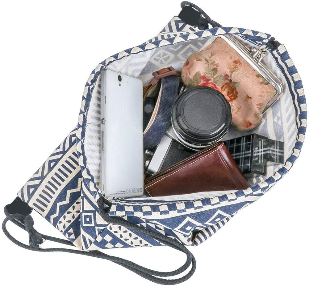 Amazon.com: Mochila portátil con cordón/monedero con ...