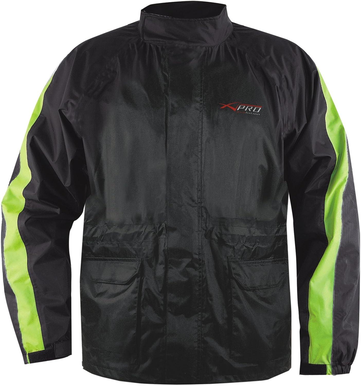 Veste Pluie Nylon 100/% Etanche Capuche Reflechissant Moto Motard Sport argent M