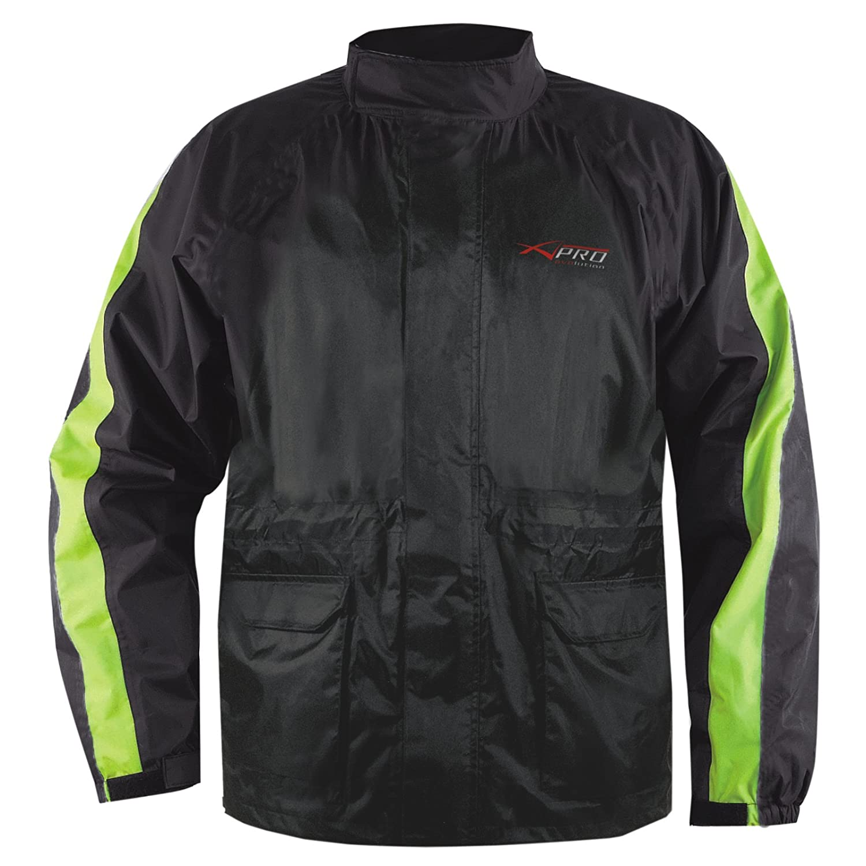 Veste Pluie Nylon 100% Etanche Capuche Reflechissant Moto Motard Sport bleu S A-PRO 5180000029449