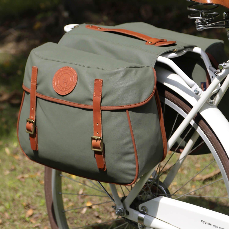 Tourbon Wasserfeste Leinwand Fahrrad Bike hinten Sitz Tasche Doppel ...
