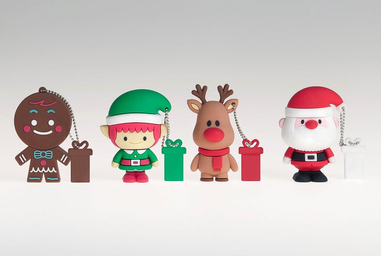clé usb noel Tribe Xmas Père Noël Clé USB 4 Go Rouge: Amazon.fr: Informatique clé usb noel