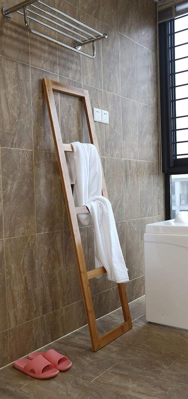 Staande Bamboe Handdoeken Ladder Rek Badkamer Handdoekhouder Voor Tegen De Muur Handdoekladder Handdoekenrek Hout Handdoekrek Decopatent Amazon Nl