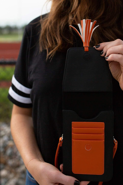 Harper Crossbody Svart/Orange