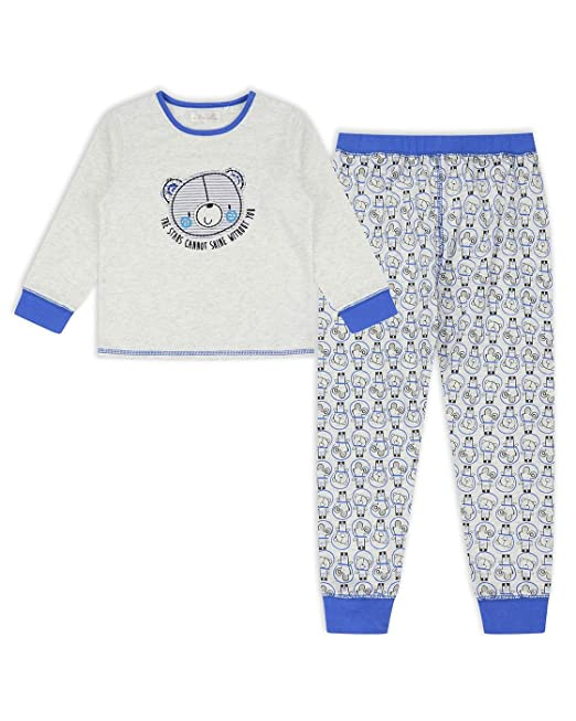 The Essential One - Infantil Niños Pijama Estrellas - Gris - 5-6 años -