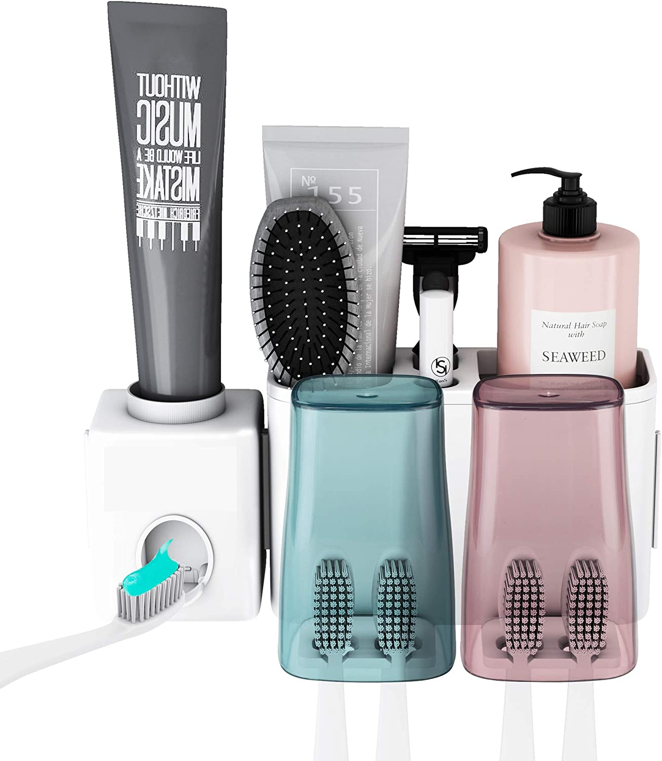 New Household Automatic Toothpaste Dispenser and Tooth Brush Holder Set Tools