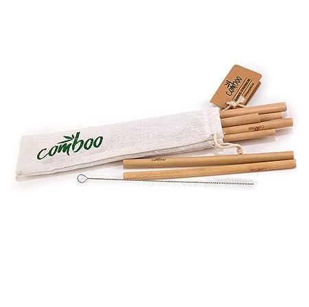 comboo - Pajitas bambú I 100% Natural I Reutilizable I Respetuoso ...