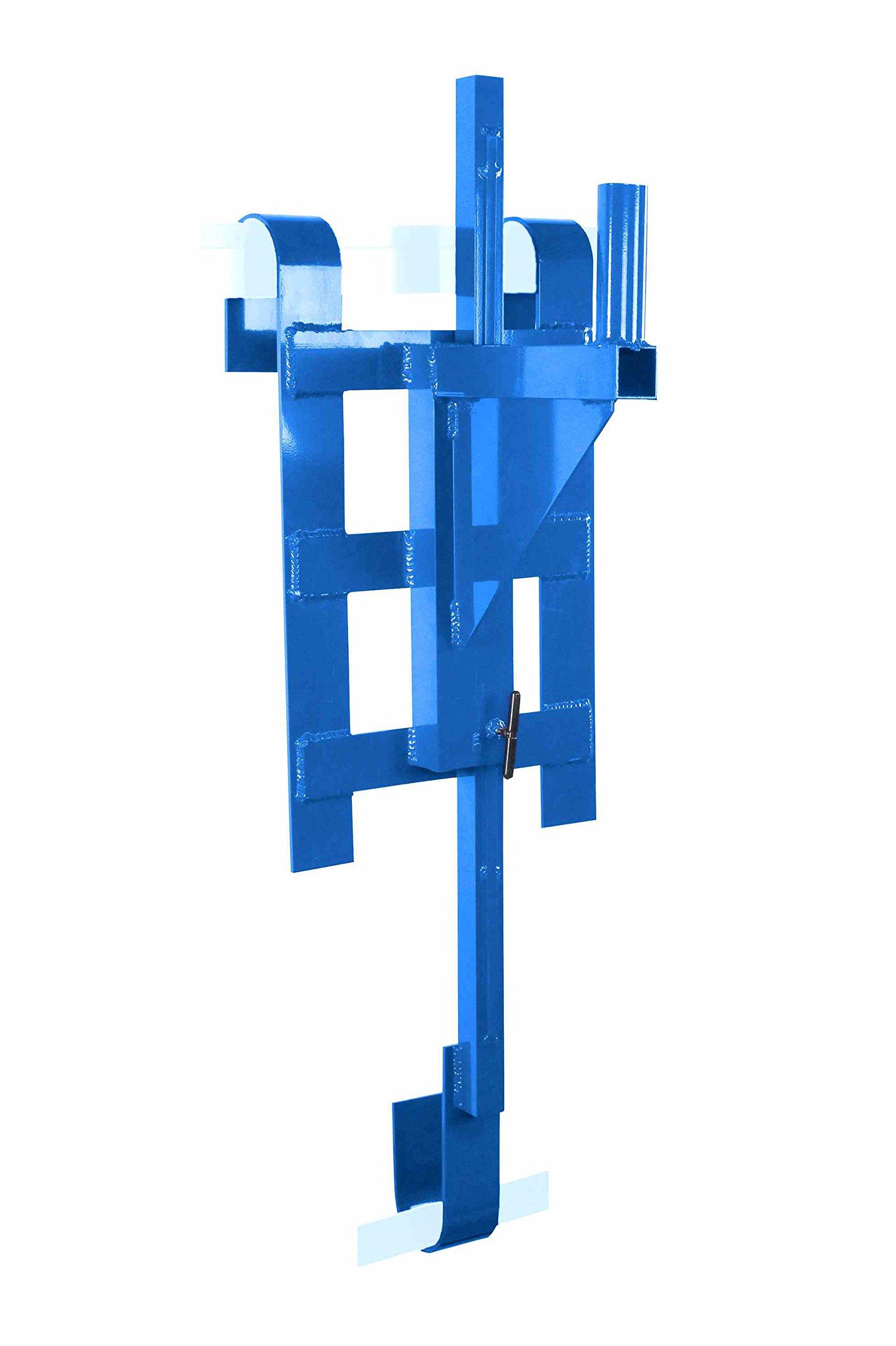 Adjustable Aluminum Rail Mount Bracket - Scaffold / Ladder Rack Bracket - 1.9'' OD Top Mounting Stud by Larson Electronics