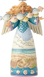 Enesco Jim Shore Heartwood Creek Coastal Angel with Fish