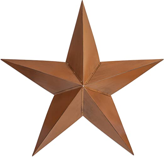 """Besti Rustic Barn Star Outdoor Decoration (12"""") Large, 12D Metal Farmhouse  Decor  Wall-Hanging or Ground Placement  Vintage Americana Decoration"""