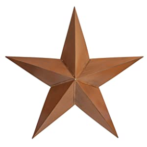 """Besti Rustic Barn Star Outdoor Decoration (36"""") Large, 3D Metal Farmhouse Decor   Wall-Hanging or Ground Placement   Vintage Americana Decoration   Heavy-Duty Tin"""