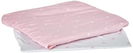 Cami Mar/íe Baby Changing Pad Covers Liners 16 x 32 x 5 inch 2 Pack Stretchy 100/% Jersey Cotton Pink//White Flowers and Diamonds for Baby Girls