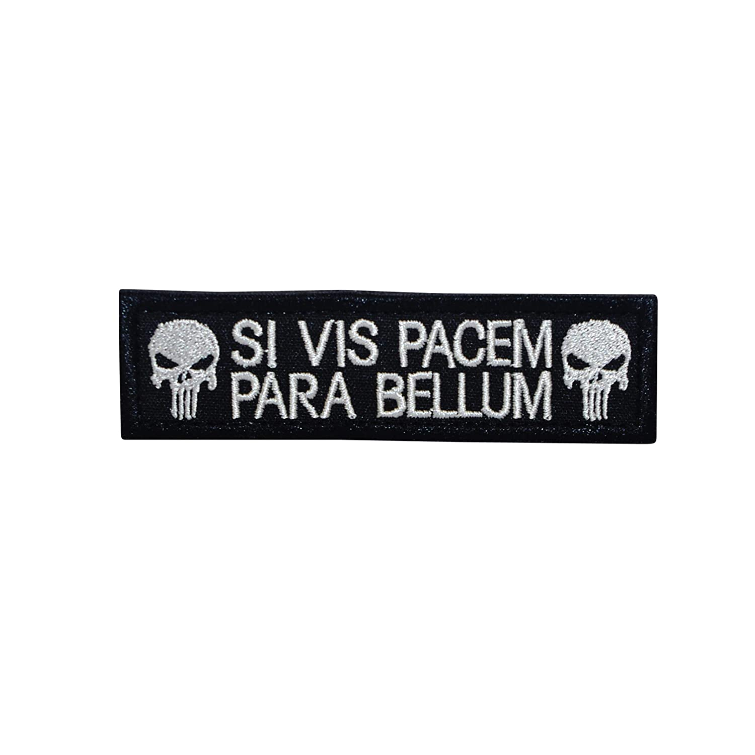 Cobra Tactical Solutions Besticktes Patch SI Vis Pacem para Bellum Punisher with Hook /& Loop for Cosplay//Airsoft Paintball