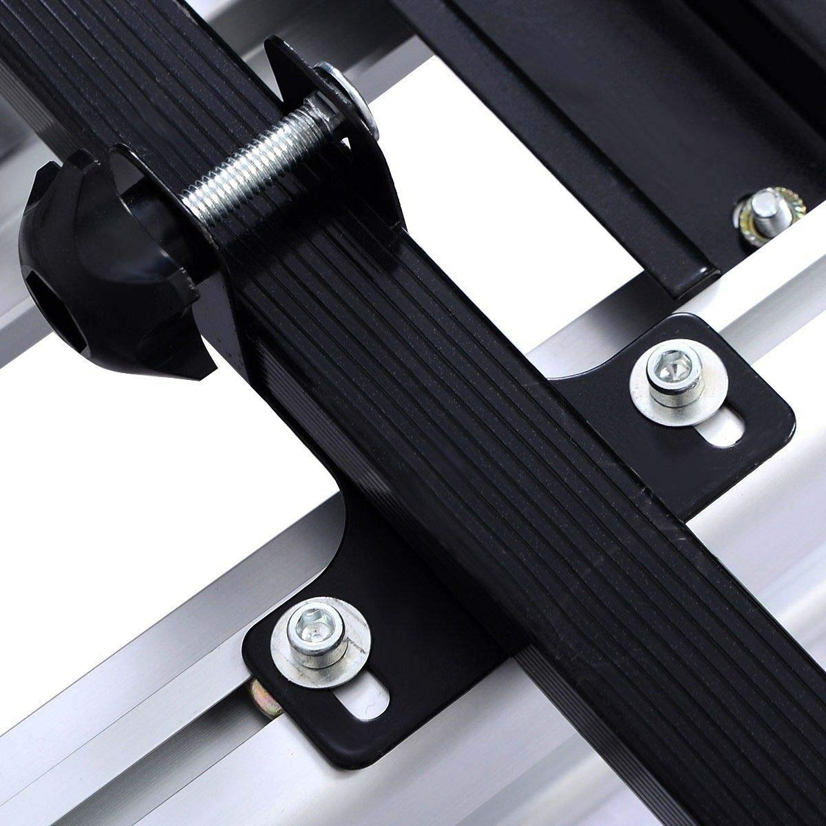 Universal Aluminum Car Roof Rack Basket COSTWAY Roof Tray Luggage Cargo Carrier Platform Rack with 100 Kg Weight Capacity