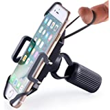 Bike & Motorcycle Phone Mount - For iPhone 7 (5, 6, 6s Plus), Samsung Galaxy or any Cell Phone - Universal Handlebar Holder for ATV, Bicycle and Motorbike. +100 to Safeness & Comfort